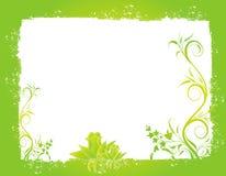 Verde astratto della sorgente del fiore dell'illustrazione del fiore Immagini Stock Libere da Diritti