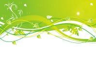 Verde astratto della sorgente del fiore dell'illustrazione del fiore Fotografia Stock Libera da Diritti