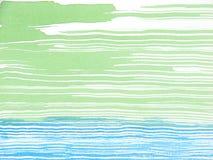 Verde astratto ed azzurro della priorità bassa dell'acquerello Fotografie Stock Libere da Diritti
