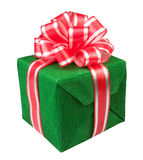 Verde atual da caixa de presente Fotos de Stock Royalty Free