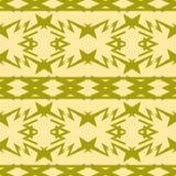 Verde azeitona composto sem emenda do teste padrão e cores amarelas silenciado ilustração do vetor