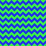 Verde azul colorido inconsútil del diseño geométrico de las flechas del vector del modelo de zigzag de Chevron Foto de archivo