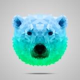 Verde azul do inclinação poli do urso polar Imagens de Stock Royalty Free