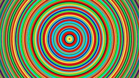 Verde azul multicolor animado rojo, amarillo, círculos concéntricos giratorios de la pendiente y lazo radial del movimiento de la stock de ilustración