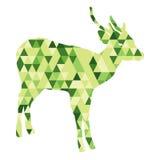 Verde basso del poligono caro Immagini Stock Libere da Diritti