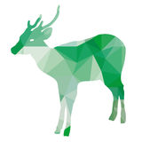Verde basso del poligono caro Fotografie Stock