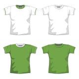 Verde in bianco della maglietta Immagine Stock
