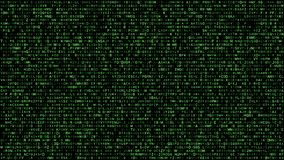 Verde binario abstracto del alfabeto de la matriz libre illustration