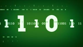 Verde binario de las corrientes stock de ilustración
