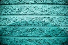 Verde blu Aqua Brick Wall Background immagini stock libere da diritti