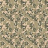 Verde, cáquis e teste padrão sem emenda bege Camuflagem do Natal ilustração stock