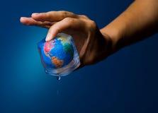 Verde - calentamiento del planeta imágenes de archivo libres de regalías