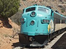 Verde Canyon Railroad in Arizona. Engine number 1510 of the Verde Canyon Railroad Stock Image