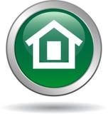Verde casero del icono del web del botón ilustración del vector