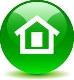 Verde casero del icono del web del botón libre illustration