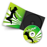 Verde Cd Immagine Stock