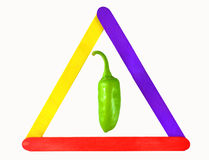 Verde/Chili Pepper Foto de Stock Royalty Free