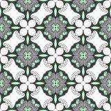Verde ciano e escuro pálidos - teste padrão sem emenda cinzento Textura elegante do flourish Foto de Stock Royalty Free