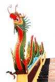 Verde cinese del drago della statua Fotografia Stock