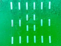 verde com gota Fotos de Stock
