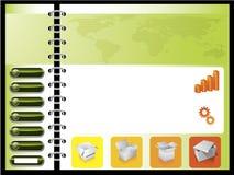 Verde combinado con el modelo anaranjado del Web