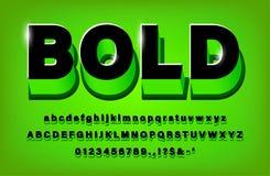 verde corajoso do alfabeto 3d e preto modernos ilustração royalty free