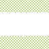 Verde a cuadros de papel abierto rasgado Imágenes de archivo libres de regalías