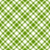 Verde a cuadros del modelo de los manteles - sin fin Fotografía de archivo libre de regalías