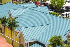 Verde d'acciaio del tetto Immagine Stock