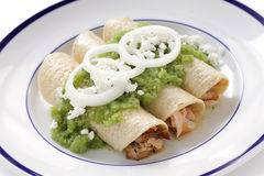 Verde d'enchiladas de poulet Photographie stock