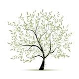 Verde da árvore da mola para seu projeto Fotos de Stock Royalty Free