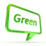 Verde da bolha do discurso Foto de Stock