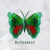 Verde da borboleta do vetor geométrico Fotografia de Stock Royalty Free