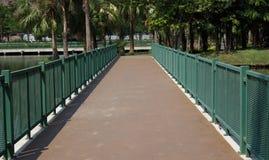 Verde da maneira do trajeto no jardim Foto de Stock Royalty Free