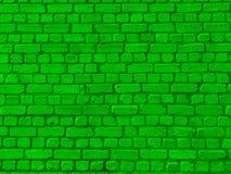 Verde da parede de tijolo Imagens de Stock Royalty Free