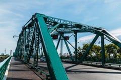 Verde da ponte do ferro imagens de stock