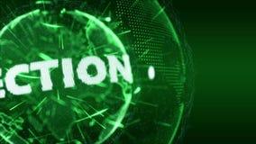Verde da provocação da introdução da política da eleição das notícias do mundo ilustração do vetor
