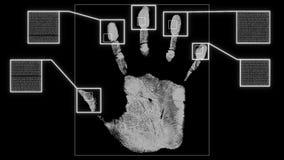 Verde da relação da identificação da varredura da impressão digital da mão ilustração stock