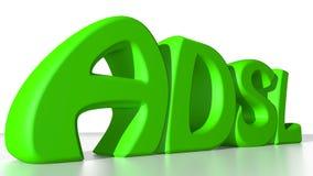 Verde de ADSL Foto de archivo libre de regalías