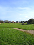 Verde de aldea en la aldea de Cheshire de Aldford Foto de archivo