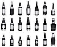 Verde de botellas de vino de la cerveza ilustración del vector