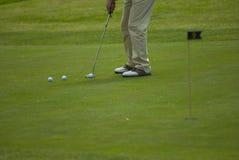 Verde de colocação do golfe Imagem de Stock Royalty Free