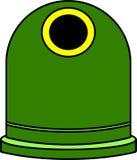 Verde de Contenedor Imagen de archivo libre de regalías