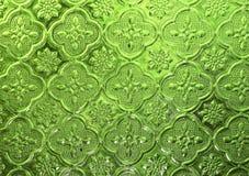 Verde de cristal del mosaico Fotografía de archivo