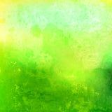 Verde de la acuarela Fondo Pintura de las manchas Imagen de archivo libre de regalías