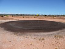 Verde de la arena del golf Fotografía de archivo libre de regalías