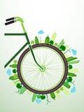 Verde de la bicicleta Foto de archivo libre de regalías