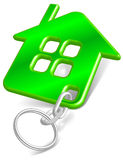 Verde de la casa de la baratija Fotos de archivo libres de regalías
