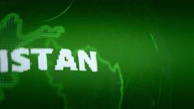 Verde de la comunicación de las noticias del mapa del mundo del mapa de Afganistán libre illustration