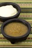 Verde de la crema amarga y de la salsa Fotos de archivo libres de regalías
